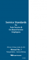 Service Standards for Train Service & On-Board Employees
